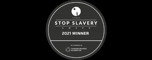 Thomson Reuters Foundation Stop Slavery Award Winner 2021 logo