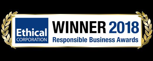 Ethical Corporation Responsible Business Awards Winner 2018 logo