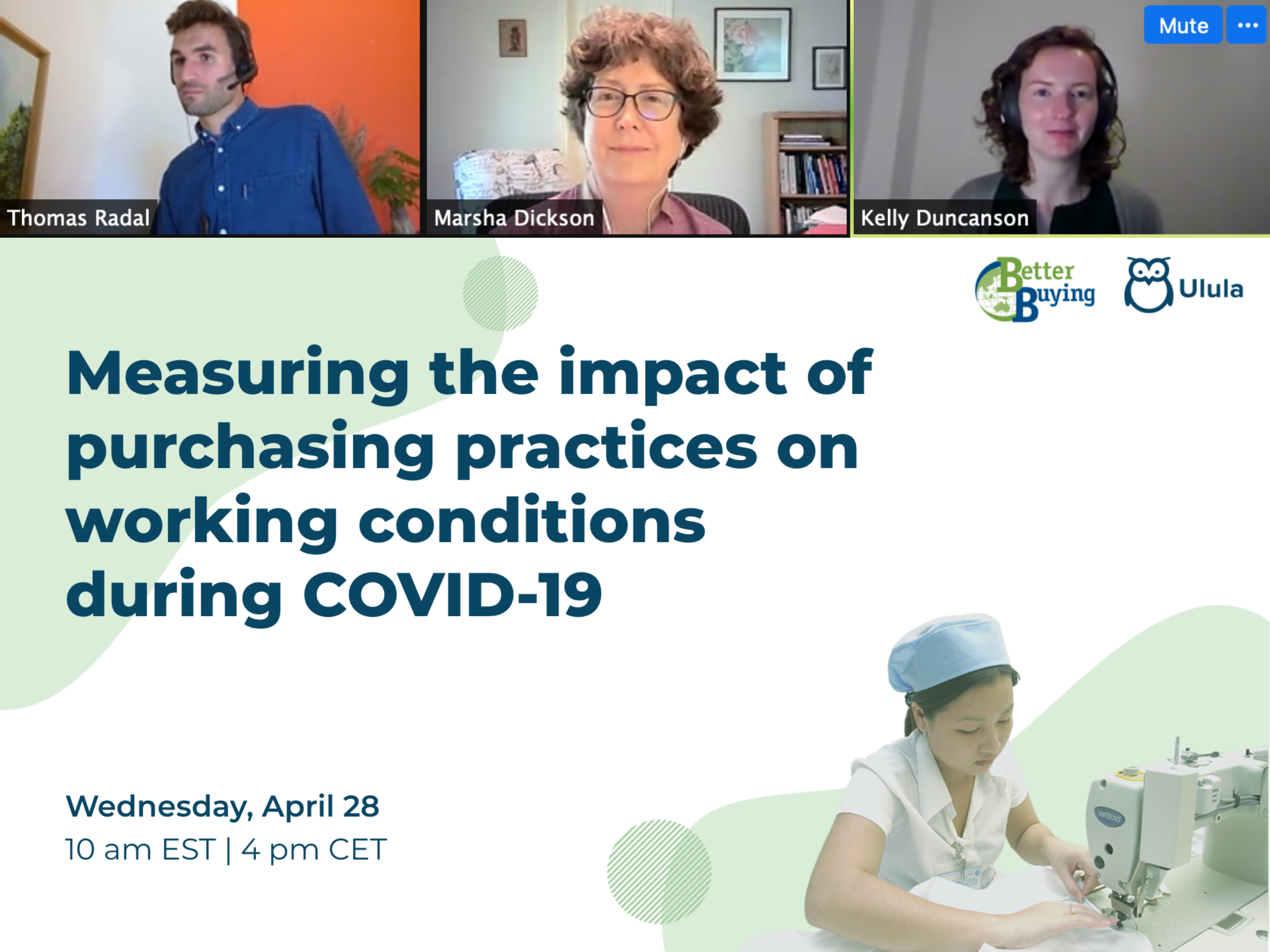 Webinar: Measuring the impact of purchasing practices on working conditions during COVID-19