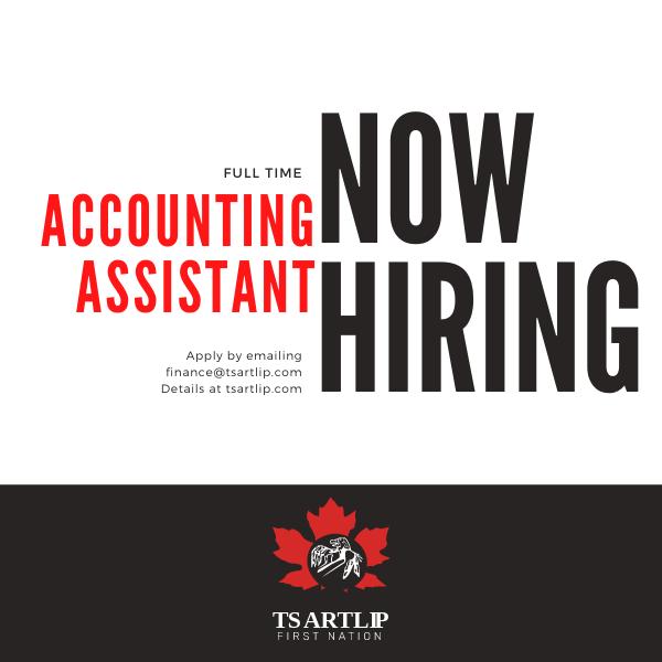 Tsartlip Health is Hiring An Accounting Assistant