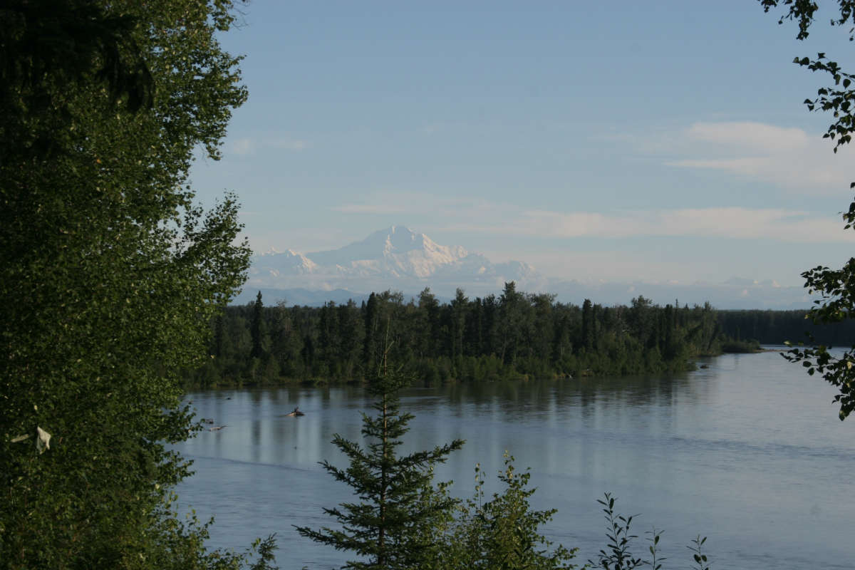 Mt. Denali as seen from the lodge