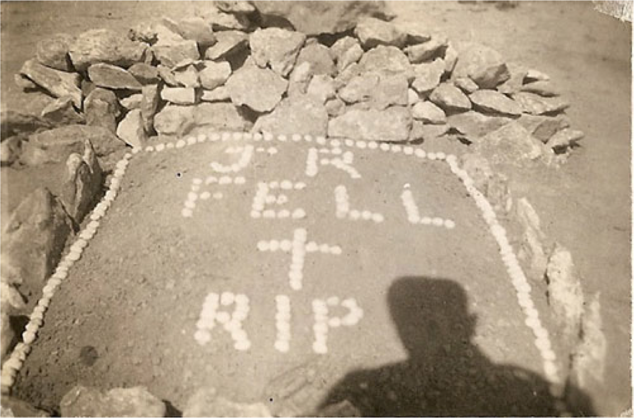 Grave of soldier J.R. Fell in N. Africa, about 1941.