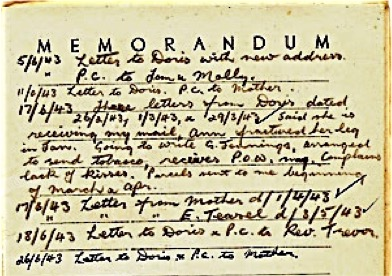 Robert Otterson POW war diary extract