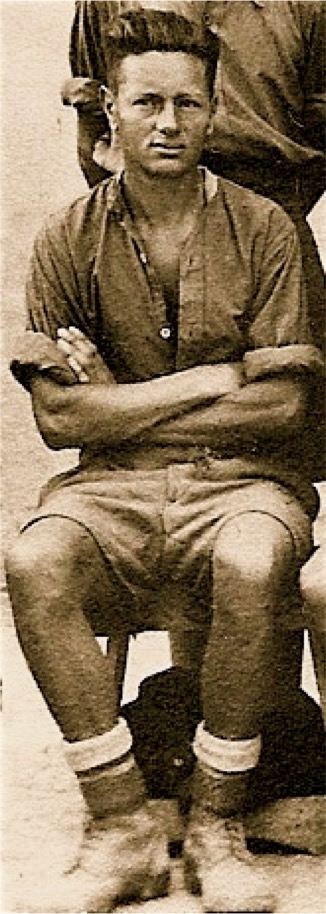 Robert Otterson as a POW in Italy, about 1943