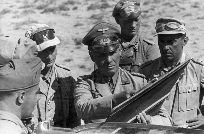 General Rommel directs the Afrika Korps, 1941.