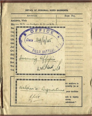 Military records in possession of Steve Harris.