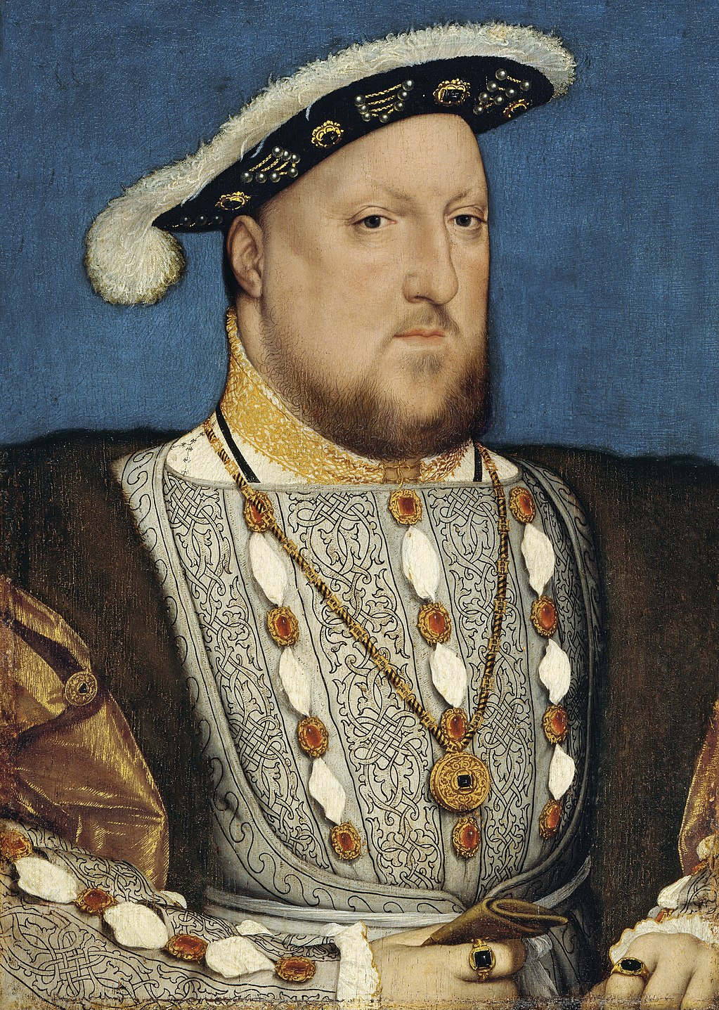 Henry VIII, by Hans Holbein, the Younger, circa 1537. Public domain.