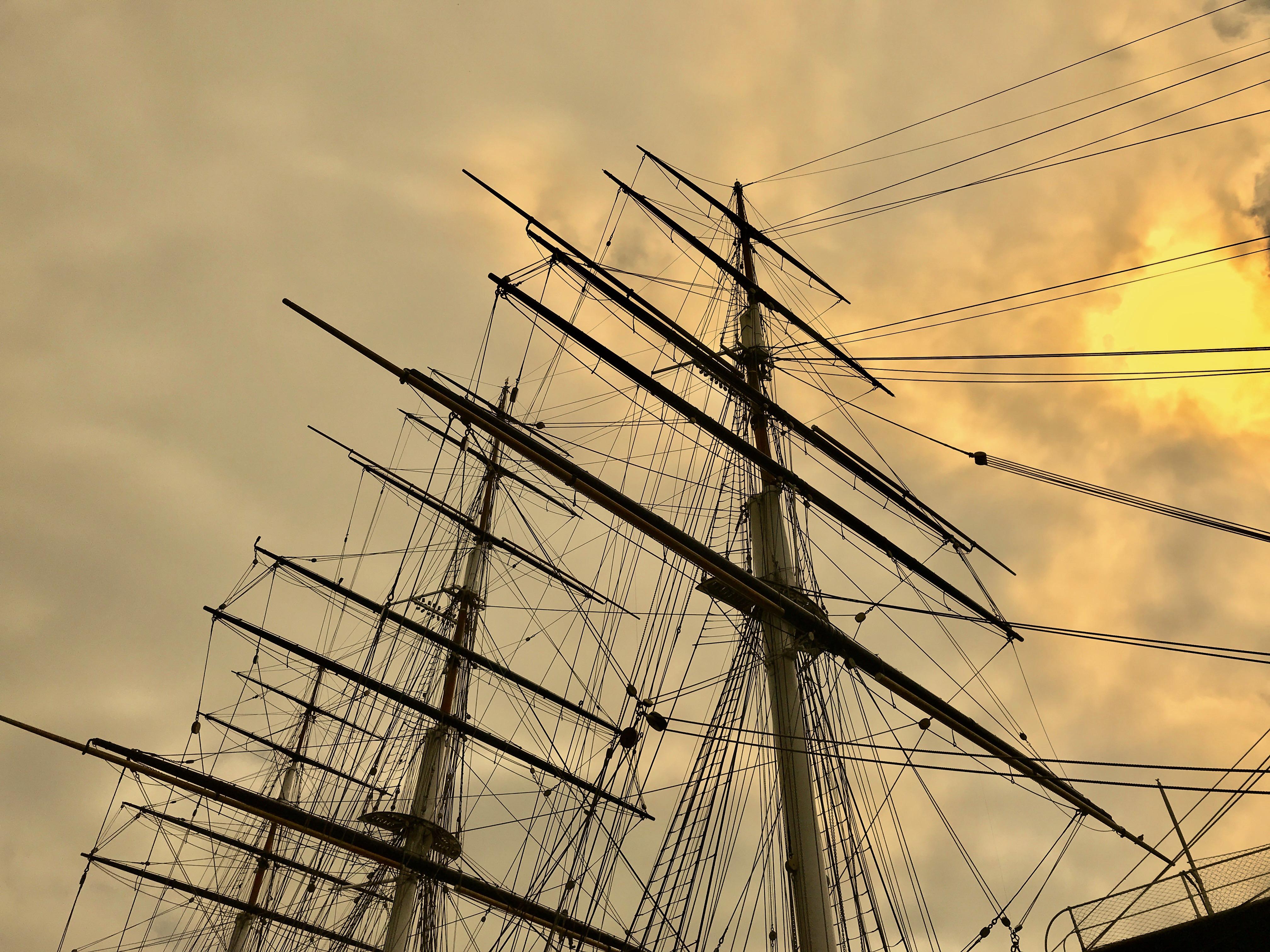Ship masts graphic