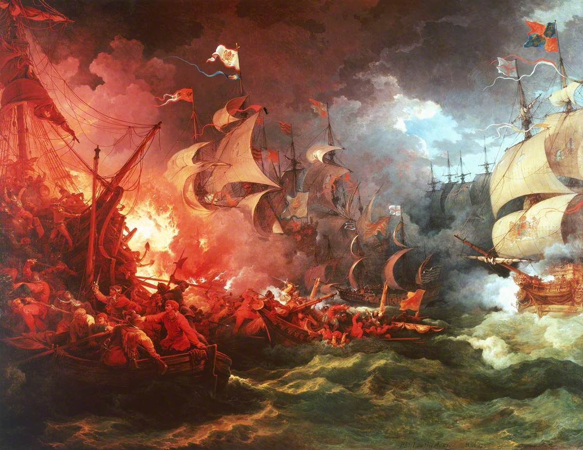 Defeat of the Spanish Armada, 1588; Philip James de Loutherbourg, National Maritime Museum.