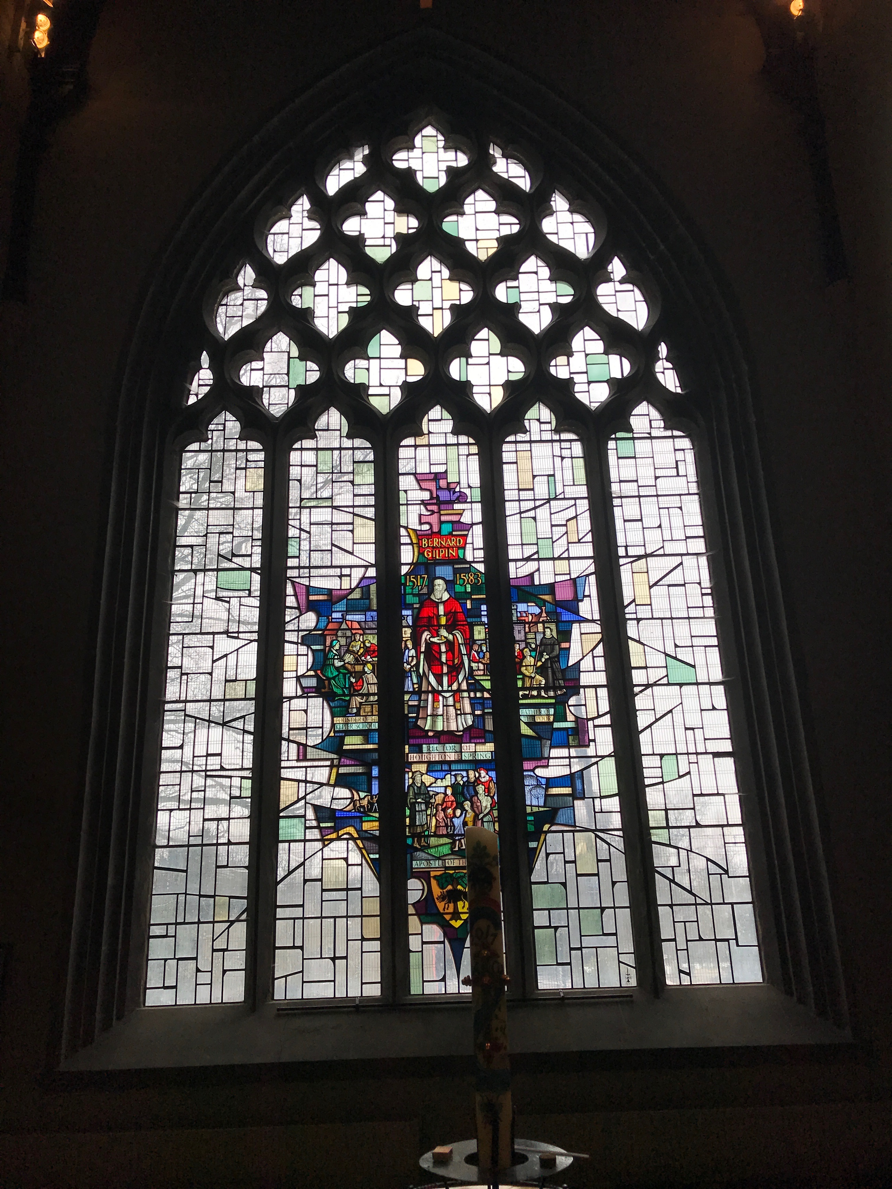 Stained glass Gilpin window, Houghton le Spring