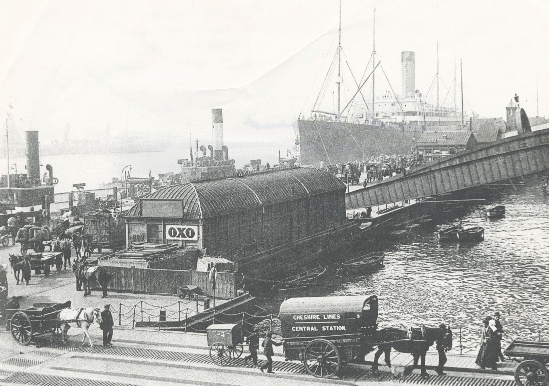 Carters at Liverpool landing stage