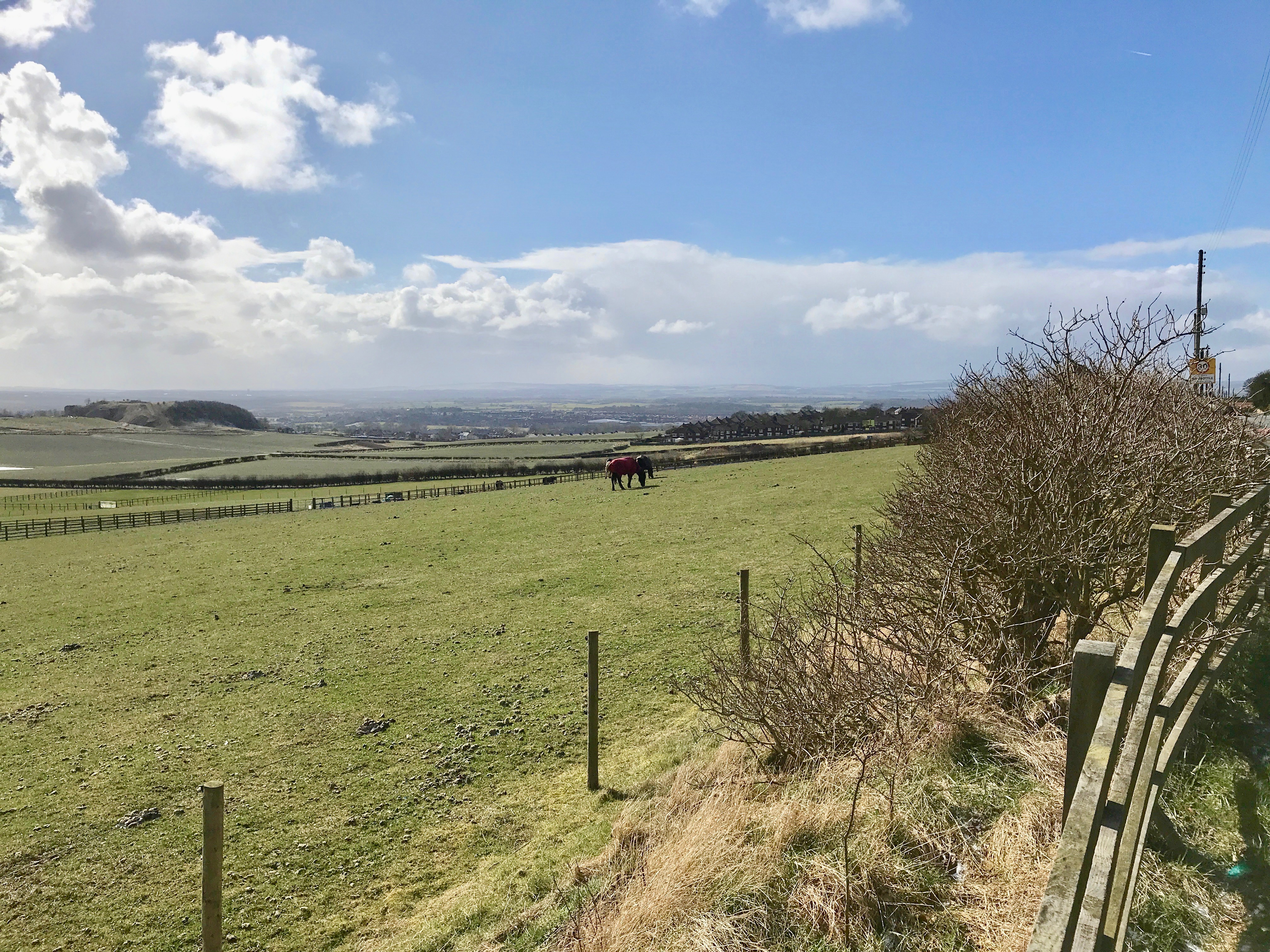 Taken from road by Over the Hill Farm, The Steadings