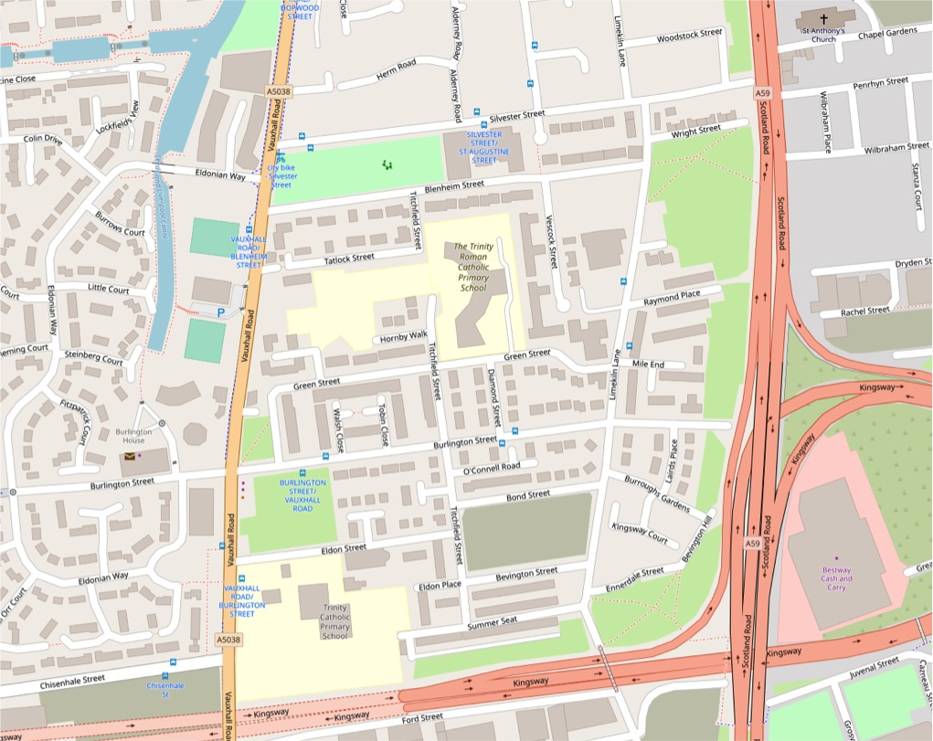 Liverpool dockland map