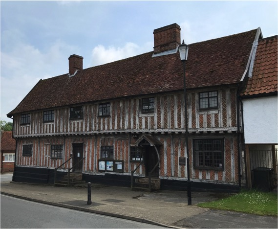 The old Laxfield guildhall, now a museum.
