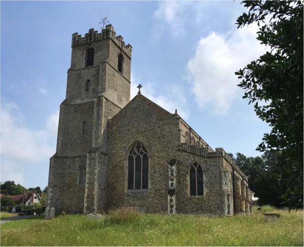 External view of St Mary's parish Church, Coddenham, Suffolk.
