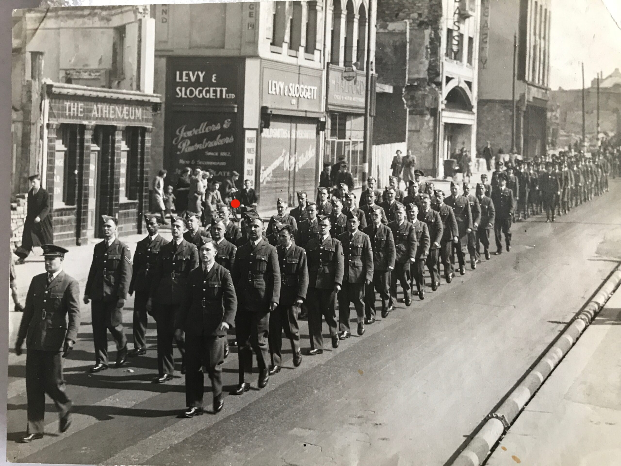 RAF march in Plymouth, Jim Otterson
