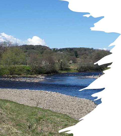 Confluence of North Tyne and South Tuyne rivers, England