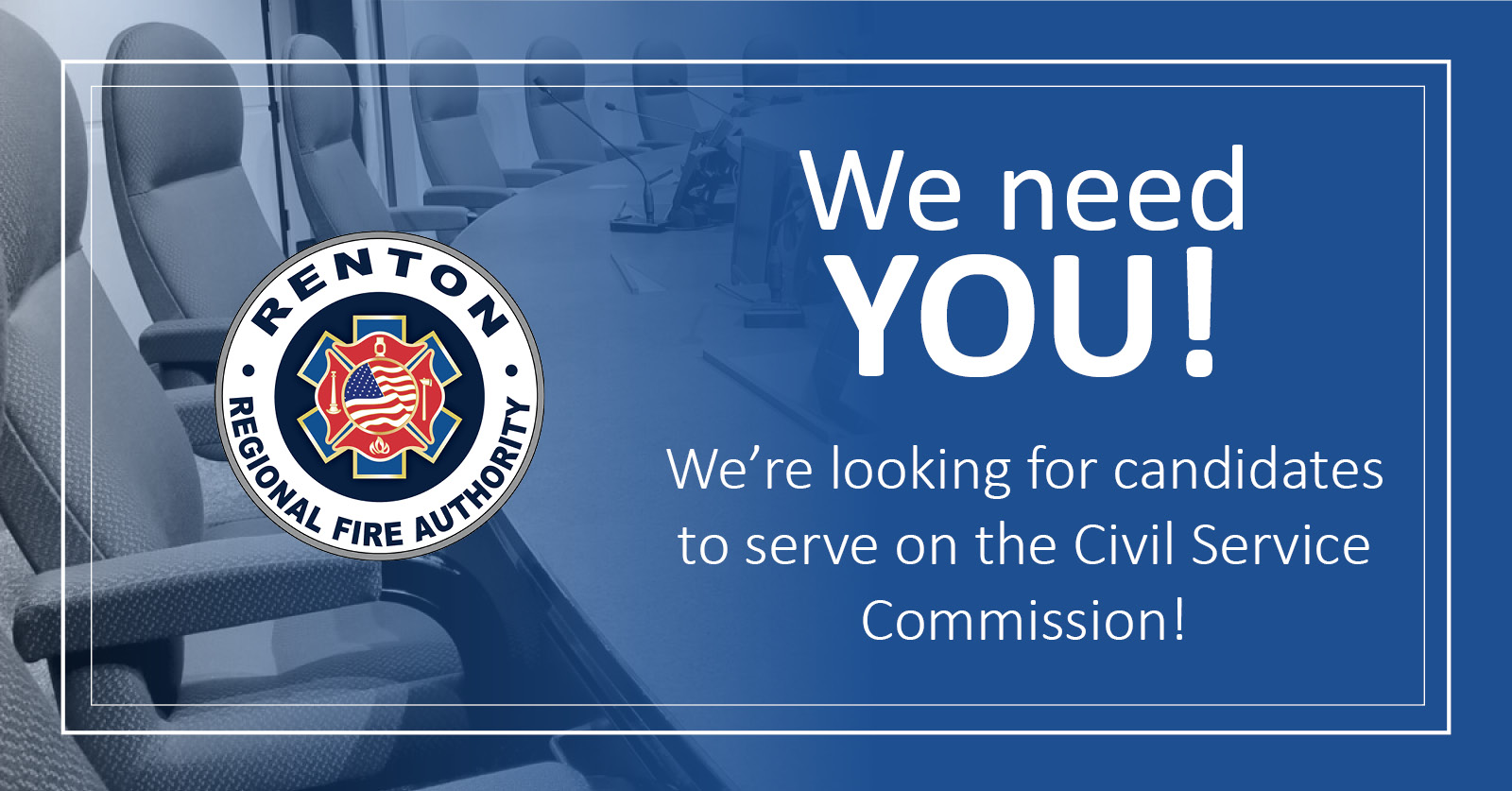 Renton RFA Seeks Candidates for Civil Service Commission