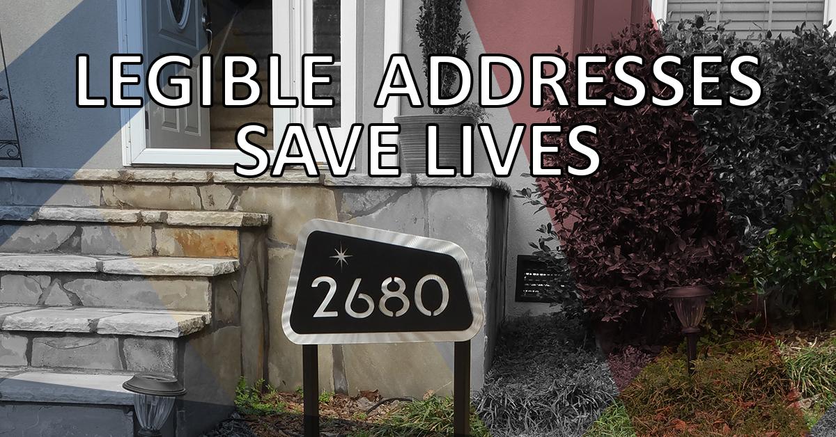 Legible Addresses Save Lives