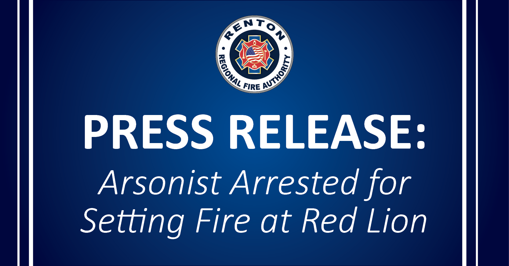 Arsonist Arrested for Setting Fire at Red Lion