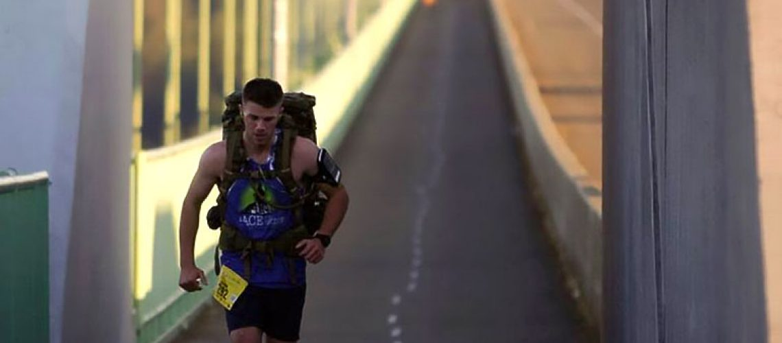 Configure Martin Park runs local marathon in 48.5 pounds of gear and raises $3,300 for the Permission To Start Dreaming Foundation!