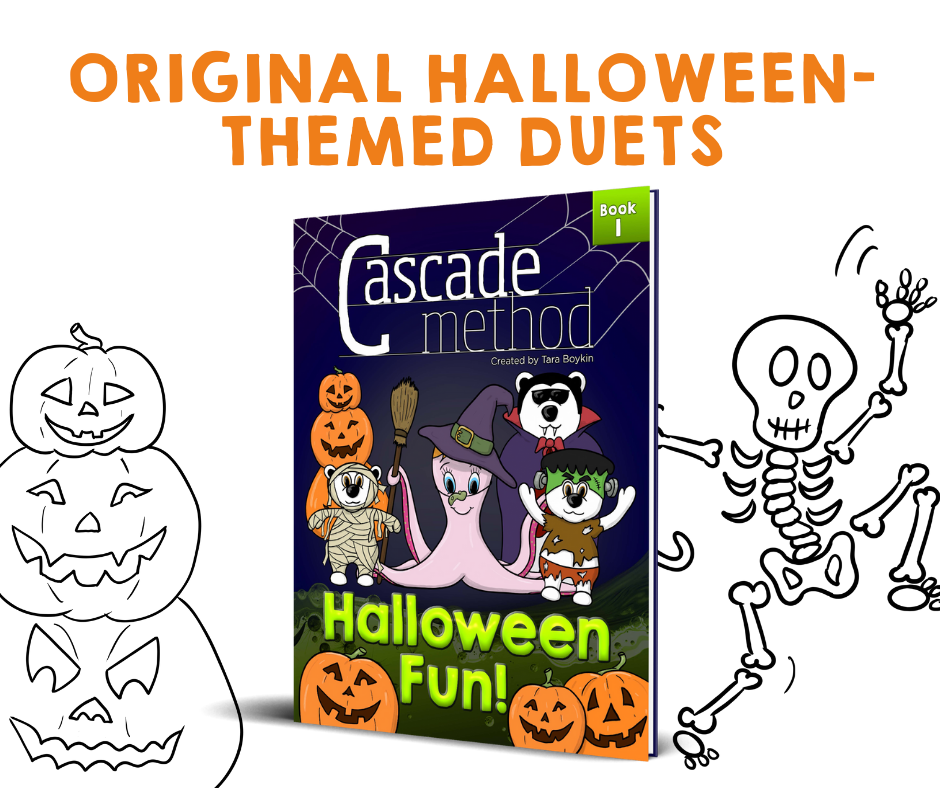 Halloween-themed duets for piano lessons