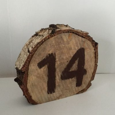 Birch Log Table Number
