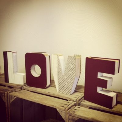 LOVE Book Letters