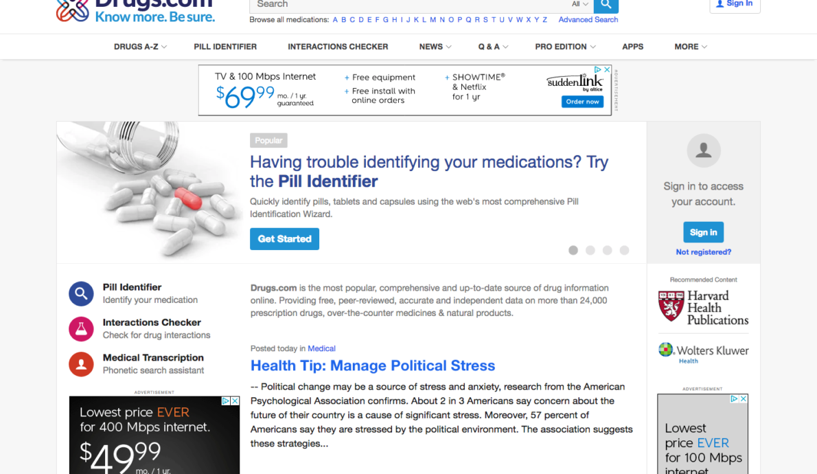Drugs com Prescription Drug Information Interactions Side Effects