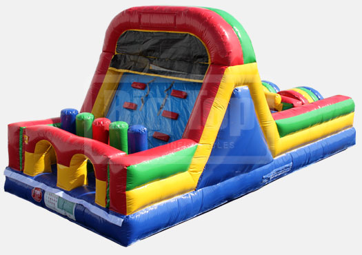 Spokane's 24 foot bounce obstacle course