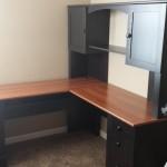desk and hutch