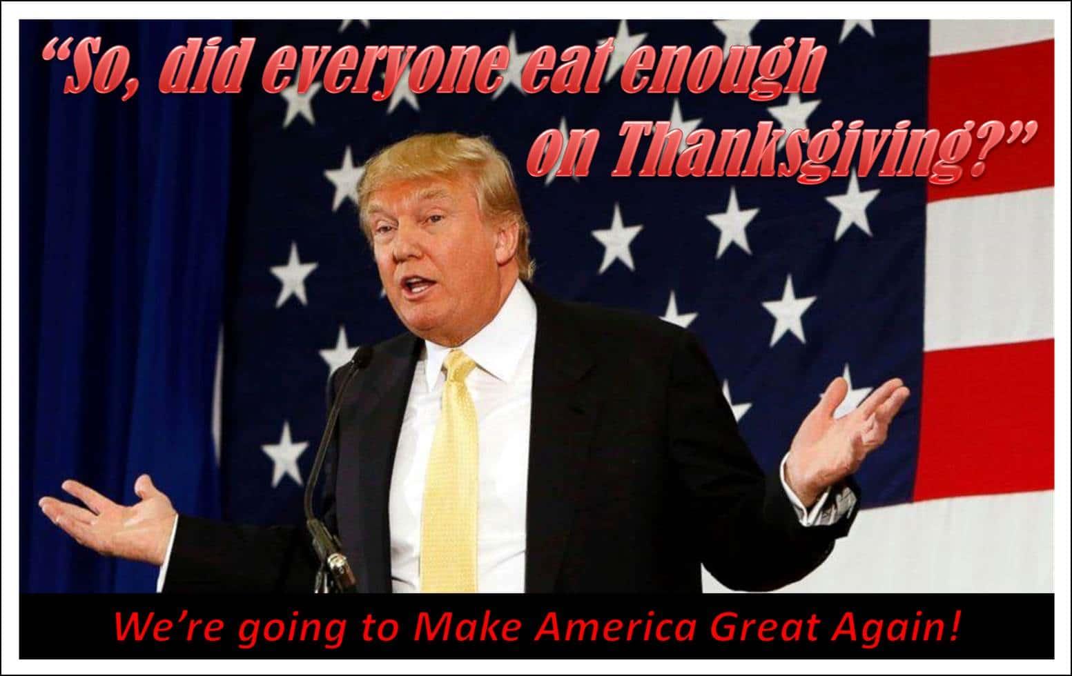 Trump thanksgiving