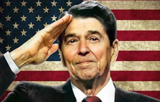 Reagan.Saluting