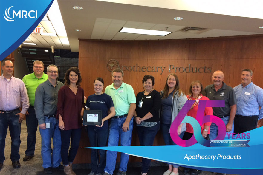 Apothecary Products team - employer of excellence award