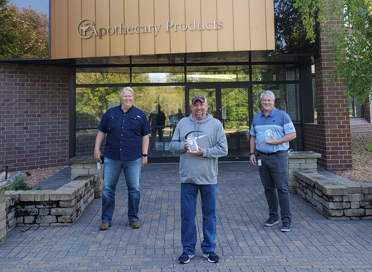 August 2020 One APL Recipients Joe Falk Mike Kotzmacher and Nathan