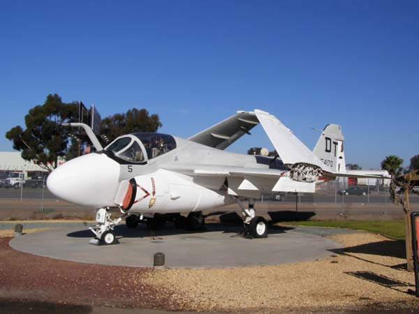 Grumman Intruder A-6E military plane at Flying Leatherneck Aviation Museum