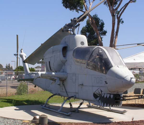 AH-1 Sea Cobra Helicpoter at Flying Leatherneck Aviation Museum