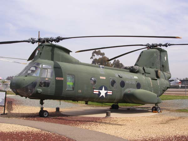 Boeing Vertol CH-46 Sea Knight Helicopter at Flying Leatherneck Aviation Museum