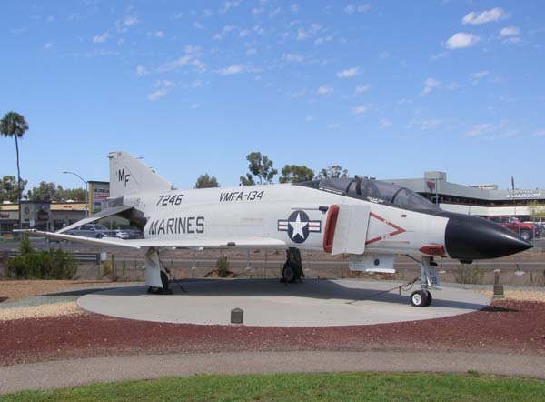 McDonnell Douglas F-4S Phantom II Military Plane at Flying Leatherneck Aviation Museum