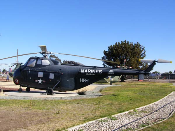 Sikorsky HRS-3 (H-19) Chickasaw Helicopter military plane at Flying Leatherneck Aviation Museum