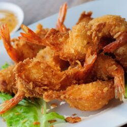 Coconut-Beer-Batter-Fried-Shrimp-with-Pineapple-Salsa