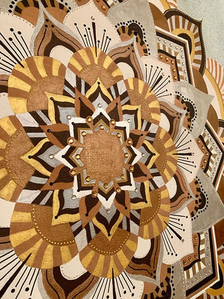 Jana Gamble | Intuitive Original Art Charlottesville | Mandala Detail