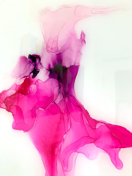 Jana Gamble | Alcohol Ink Artist | Alcohol Ink Art | Mixed Media Art | Acrylic Art | Original Art for Sale | Charlottesville Virginia | Piggy Close up