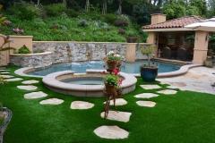 Pool side synthetic turf