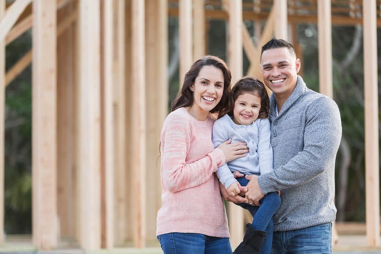 Veritas QA helps inspect a new home for a family.