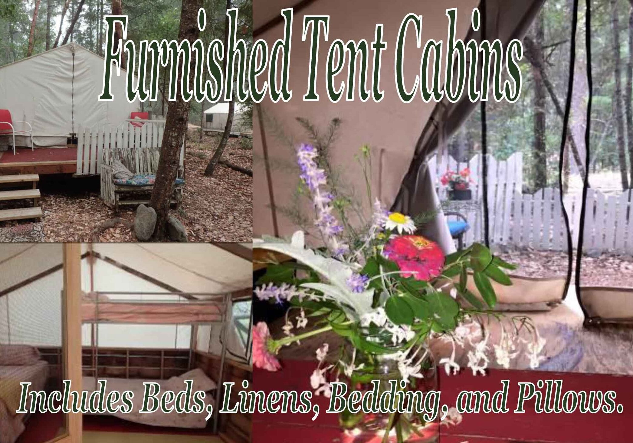 Furnished Tent Cabins