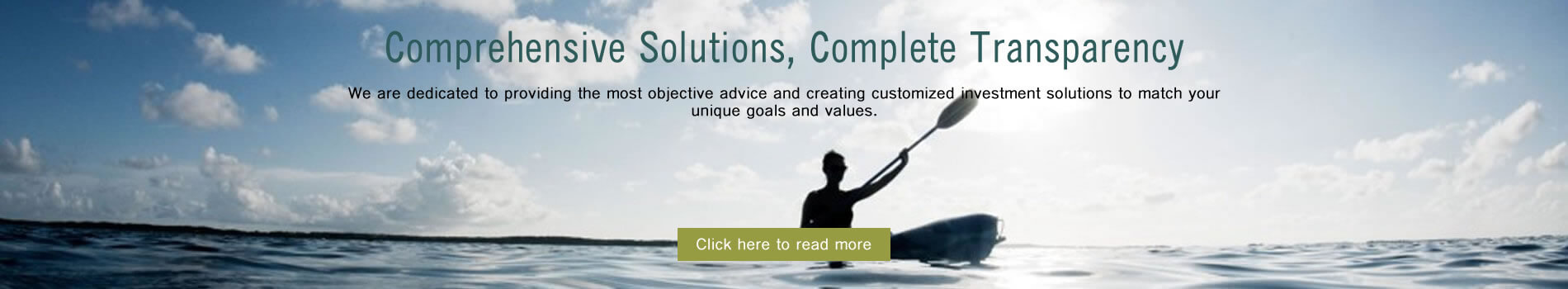 Banner image stating Cribstone Capital offers comprehensive solutions with complete transparency.