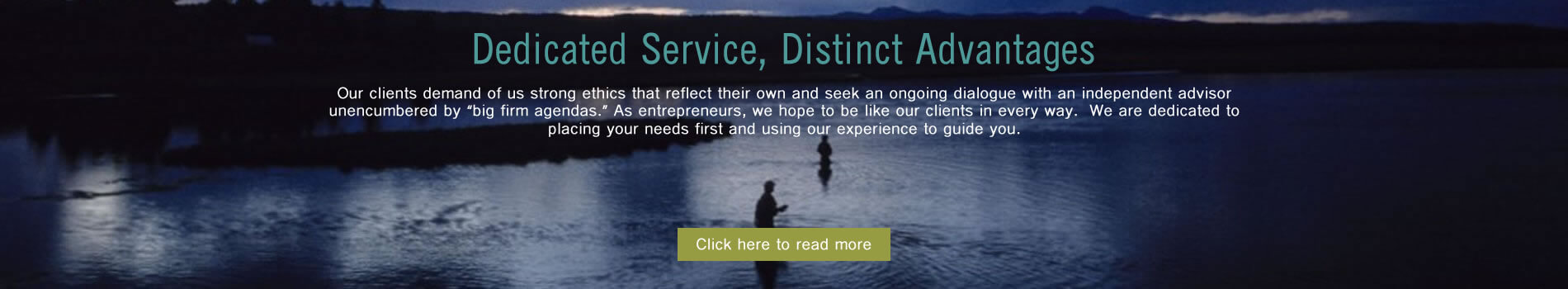 Banner image stating Cribstone Capital offers dedicated service and distinct advantages.