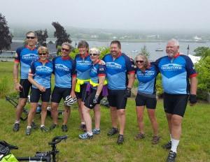 Team Cribstone at the 2017 Trek Across Maine.