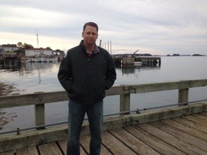 Shirl Penney on a dock.